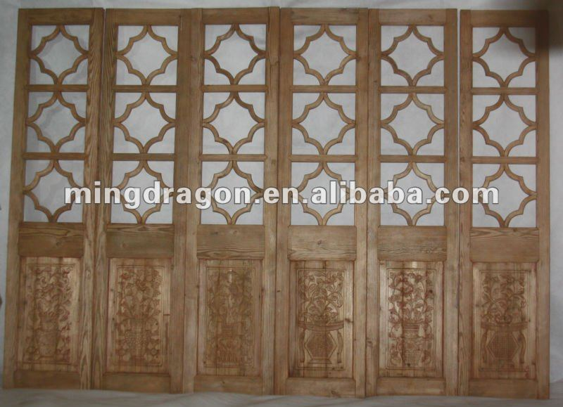 Antique wooden screen partitions designer carved