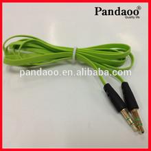 3.5 mm Car Audio Aux Cable de extensión cuerda de cáñamo Cable para Apple iphone