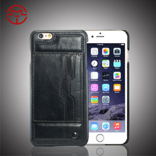 Lovely Back leather Cover for iPhone 6 wholesale factory for iphone 6 plus phone case
