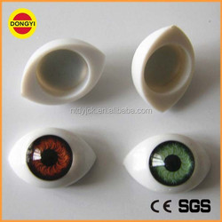 oval colorful large plastic eyes for doll