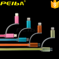 Peiba custom jelly line cable colorful usb cable bulk buy in Alibaba China