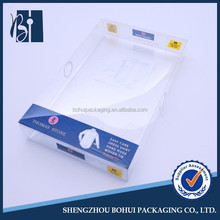 One-Piece Clear Square Plastic Shirt Box With Color Printing