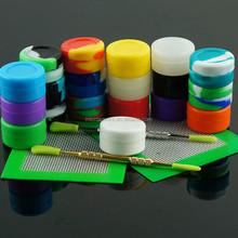 Eco-friendly Colorful Food Grade silicone container silicon jars for wax/oil 2015 non stick silicone container concentrate oil
