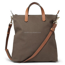 12 oz canvas hand bag with cross body strap