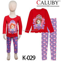 wholesale kid clothes cotton girls sleepwear infant pajamas with long sleeve