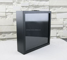 3d Black or white Wooden material Shadow Box Wall Art photo Frames Wholesale 38x38 decorative wall frames
