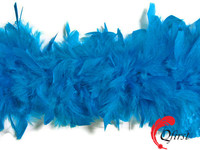 Elegant scarf cheap price dyed turquoise blue sexy turkey chandelle feather boas