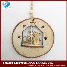 Popular design more funny wooden christmas ornaments