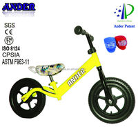 first sale 12 inch ANDER patent push bike for baby with bike light