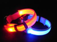 LED Nylon Pet Dog Collar Night Safety LED Light-up Flashing Glow In The Dark Electric LED Pets Cat & Dog Collar