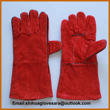 working split leather glove