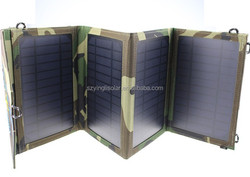 14W Portable Wallet Solar Charger+Foldable Solar Panel Bag+Traveling Supply+USB Output