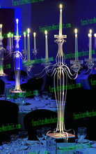 shanghai event rental wedding ceremony acrylic led candelabra table decoration