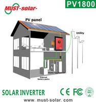 Alibaba trade assurance golden products selling solar inverter 4000va/5000va 48vdc 220/230ac home solar systems