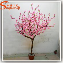 Decorativo de interior mini boda del flor de cereza árbol bonsai