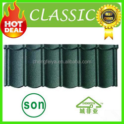 high quality economic sand coated metal roof tile