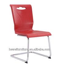 Chrome frame polyurethane foam dining room chair