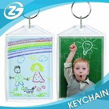 OEM Transparent Picture Photo Frame Plastic Keychain