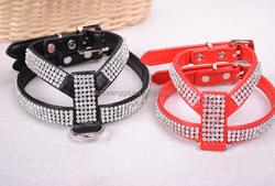 Luxury rhinestone dog cat pet harness