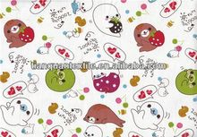 Fantasy dophin brushed printed cotton flannel fabric cotton textile