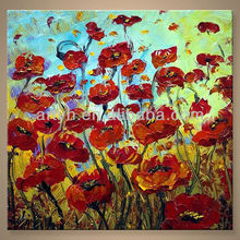 Newest Handmade Textured Flower Canvas Art For Decor In Discount Price