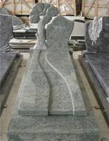 white granite monument tombstone ,monument tree carving headstone