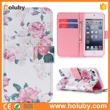 Wallet Flip Stand TPU+PU Leather Case for iPod Touch 5,Card Holder Case for iPod Touch 5