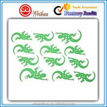 Special designed 3D green cartoon fluorescent sticker for kids