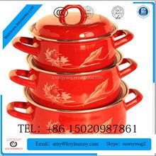 promotional custom logo enamel mug,high quality cookware, enamel plate decorated
