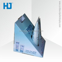 Cheap Small Cardboard Display Stand for Facial Cleanser / Small Cardboard Counter Display Boxes