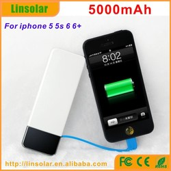 High Quality Mobile Power Bank 5000mAh Built in Cable Mobile Phone Power Bank 5000 in USA