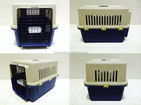 2 Spring Stainless Steel Door Pet plastic Cage with Crate tray