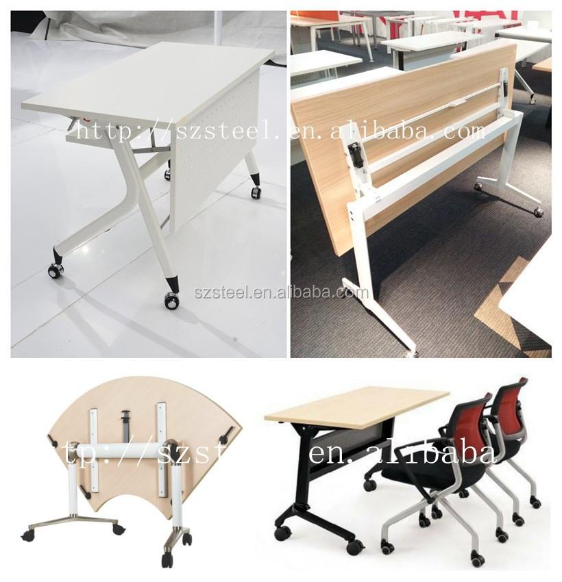Metal Foldable Folding Desk Training Initpintu 7 Jpg Table