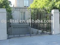 antique wrought iron driveway gate