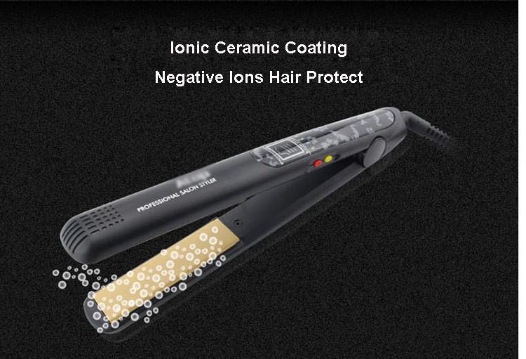 Профессиональный цифровой керамический Утюг плавающие пластины 4 темп. Установка плоского железа известный бренд oem поставщика Выпрямитель для волос