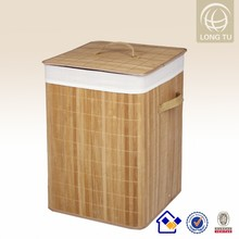 2015 Easy-life Household Square Bamboo storage basket fold up laundry basket