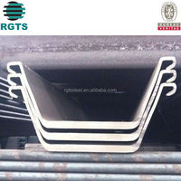 Cold Bended Cold Formed U shaped S355jr Steel Sheet Pile concrete