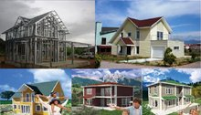 metal frame buildings and houses