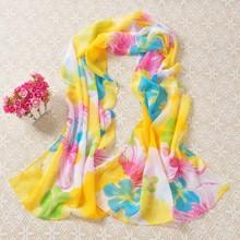 ultimo disegno primavera estate 2015 ansa colore del fiore stampa digitale sciarpa di seta