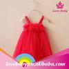 Wholesale fashion sleeveless red chiffon dress for Christmas party