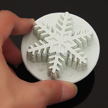 Snowflake Fondant Cake Decorating Sugarcraft Cutter Plunger Mold Mould