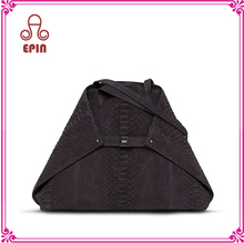 EPB-0102 Latest lady tote bag imitation leather python handbag bueno bag