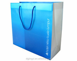 2015 EECA skyblue cheap paper shopping bag for promotion