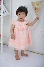 2013 nueva manera coreana del cordón del diseño vestidos de bebé 1-4Y