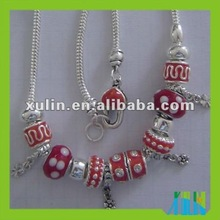 2012 new design european handmade murano necklace lowest price hot selling SPN010