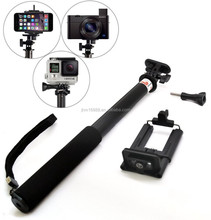 zoom in and zoom out monopod selfie stick for iPhone 6,Samsung ,remote shutter with stick