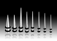 Stainless Steel Tapers Stretcher Ear Plugs Tunnel Body Piercing Jewelry
