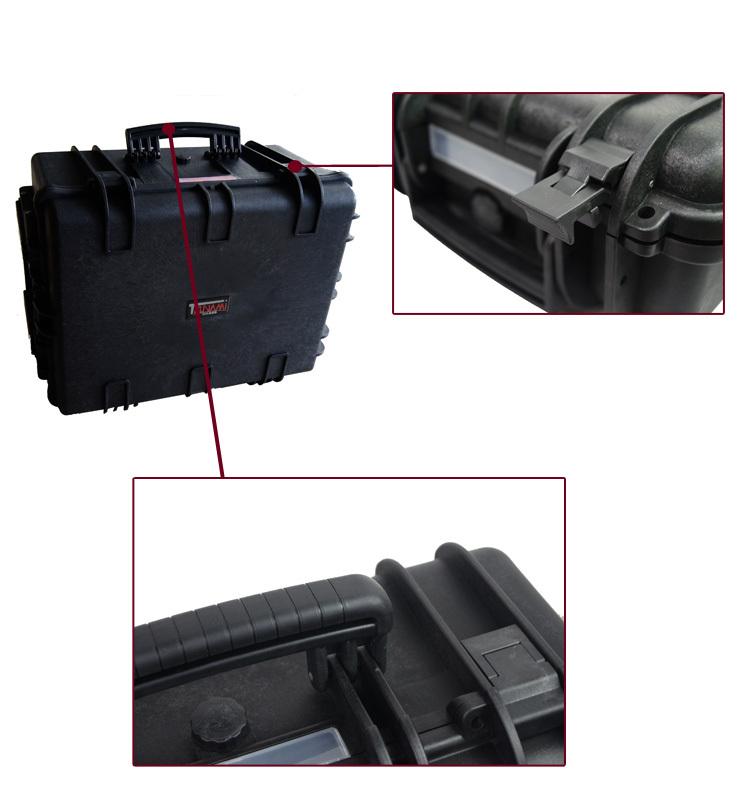 Heavy-duty waterproof IP67 hard plastic case