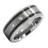 Men Jewelry Tungsten Wedding Band Wedding Cubic Zircon Tungsten Carbide Rings