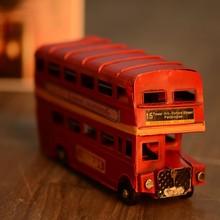 Alta calidad decoración del hogar artículos de colección modelo de autobús de londres nueva escala modelo de autobús de juguete